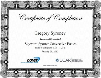 SkyWARN Spotter Convective Basics