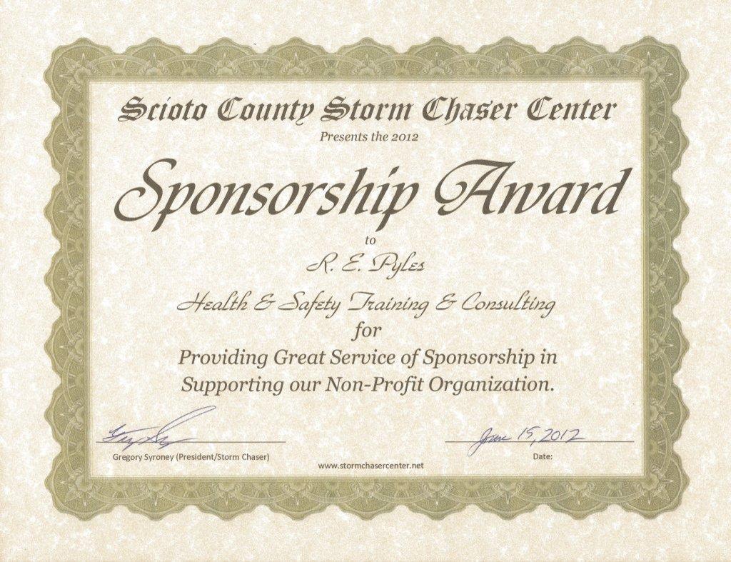 R.E. Pyles Sponsorship Award